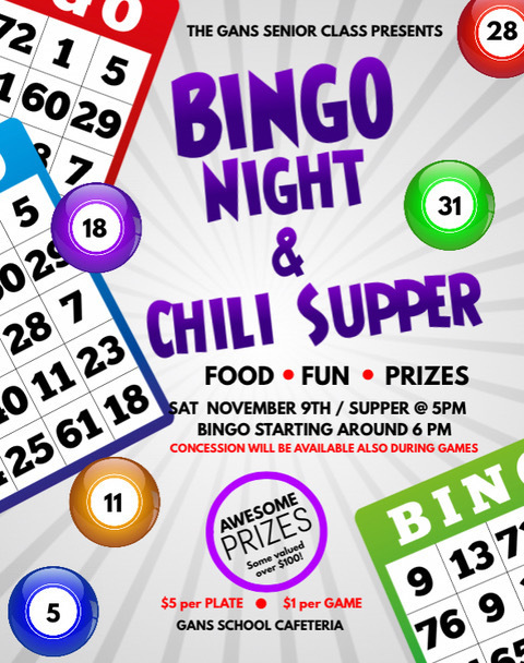 SR Bingo Night & Chili Supper